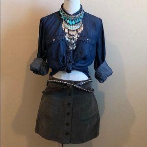 Jolt Boho Style Corduroy Skirt